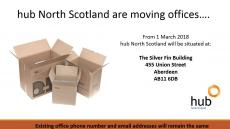 hub North Scotland are on the move