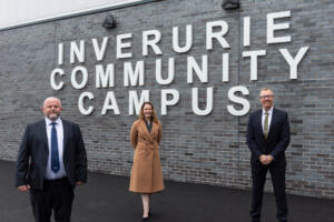 First visitors for Inverurie Community Campus