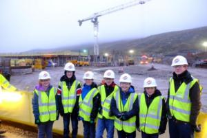 Anderson High School students visit site of new school