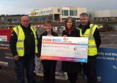 Site Team and Subcontractors on South of the City project raise Cash For Kids