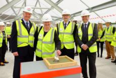 Topping out milestone for Anderson High School and Halls of Residence