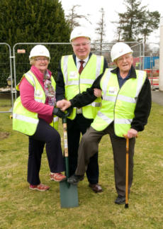 Symbolic Turf Cutting at New Inverurie Health and Social Care hub