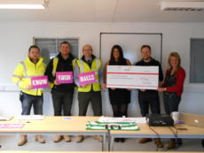 Workers welcome John Hartson Foundation to Wick site