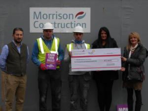 Workers welcome John Hartson Foundation to Inverness site